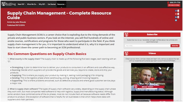 Supply Chain Management - Red Stag Fulfillment