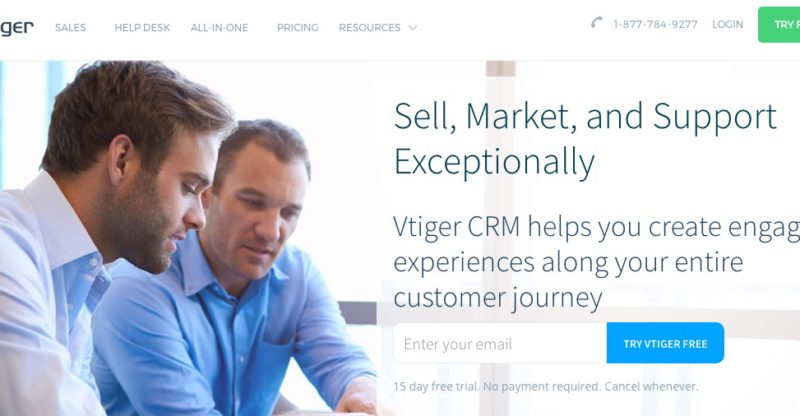 Sell, Market, and Support Exceptionally with Vtiger CRM